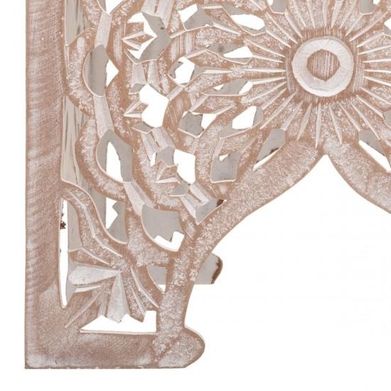 Set 2 masute din lemn sculptat, model oriental, Terre, 166512