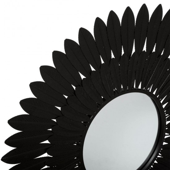 "Oglinda neagra ""Mely"", metalică D63 cm, 179421"