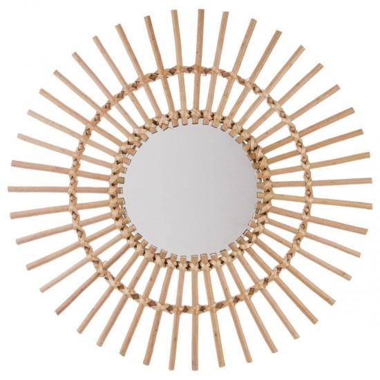 Oglinda rotunda din ratan, 58 cm, Soleil, 141149