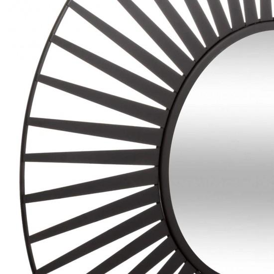 """Oglindă """"Soleil"""" neagră, metal D50 cm, 173831"""