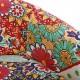 Fotoliu material textil floral, picioare lemn negru, GIARDINO, 19501402