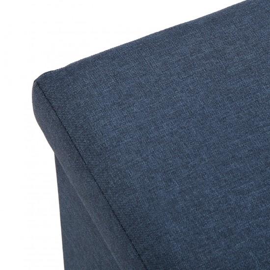Bancheta otoman pliabila, cu spatiu depozitare, albastra, MAURICE, 20970059