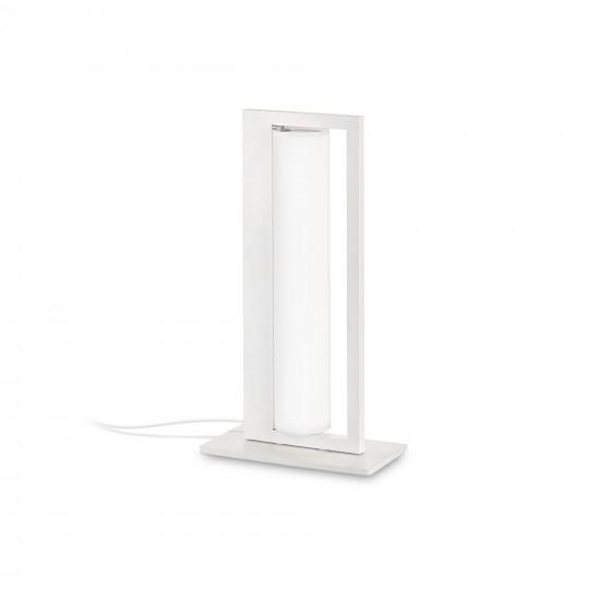 Aplica Ideal Lux Subway, alb, sticla, LED, 8W, 560 lumeni, alb cald 3000K, 224473