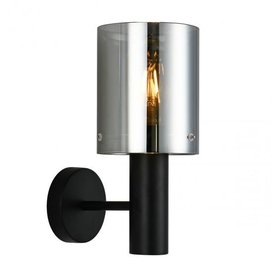 Aplica Interior Sardo, negru, sticla fumurie, 1XE27, WL-5581-1A-BK+SG
