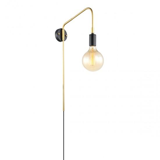 Aplica Interior Malene, negru/auriu, 1XE27, 60 cm, MDM3386/1 BK+GD
