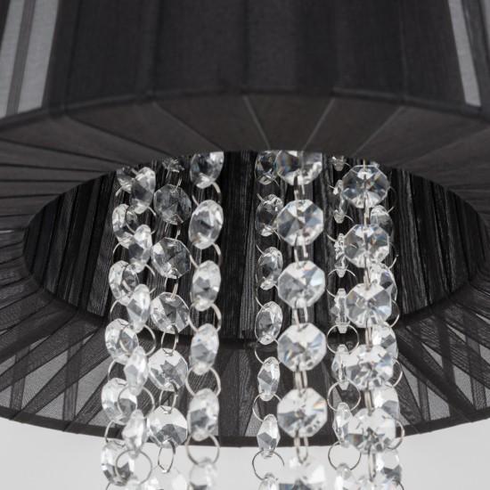 Suspensie Interior Luisa, crom, textil negru, 1XE14, 28 cm, MDM1935/1 BK