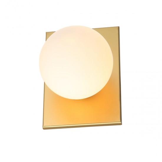 Aplica Italux Mediamo, aur mat, sticla, 1XG9, MBM-4597/1 GD