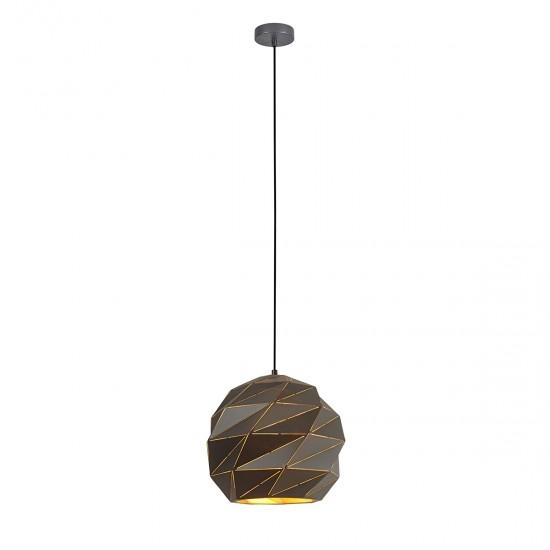 Suspensie Italux Palermo, antracit, 1XE27, D.32 cm, PND-2424-1L-GR+GD