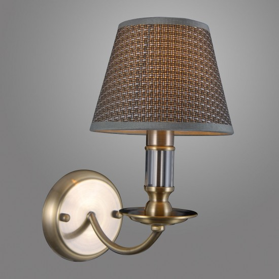 Aplica Interior Zanobi, bronz, textil gri, 1XE14, WL-43272-1