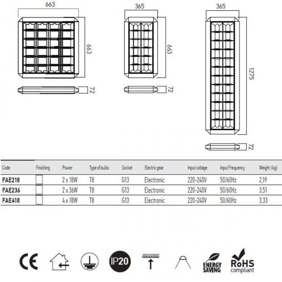 Corp neon XFile aplicat FAE T8